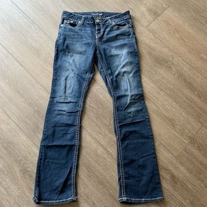 Maurices jeans blue boot cut size 9/10 long